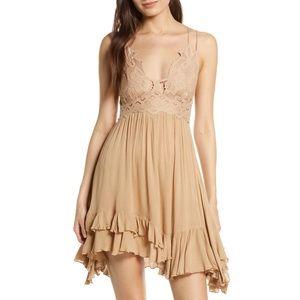 Free People Adella Nude Dress Medium